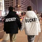 Couple Matching Lettering Hooded Parka