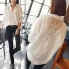 Lace Back Oversized Shirt