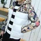 Floral Hood Padded Jacket
