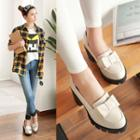 Heeled Bow Loafers