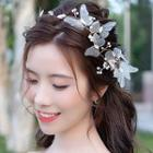 Wedding Faux Pearl Mesh Butterfly Hair Comb / Headpiece / Hair Stick