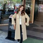 Belted Button-cuff Trench Coat