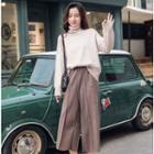 Set: Turtleneck Sweater + Wide-leg Pants