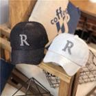 Rhinestone R Baseball Cap
