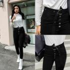 Belted-detail Skinny Pants