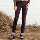 Color-block Skinny Pants