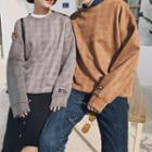 Couple Matching Long-sleeve Check Top