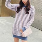 Patterned Knit Pullover Dress