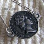Silver Vintage Coin Short Necklace