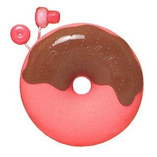 Zumreed Donuts Earphone (cord Wrap + Earphones) (strawberry Chocolate)