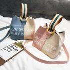 Lettering Bucket Bag With Pouch