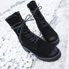 Genuine Leather Mid-calf Boots