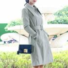 Buckled Plain Trench Coat