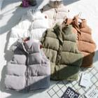 Stand Collar Corduroy Padded Jacket