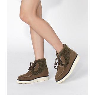Fleece-trim Short Boots