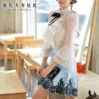 Bow-accent Ruffled Blouse