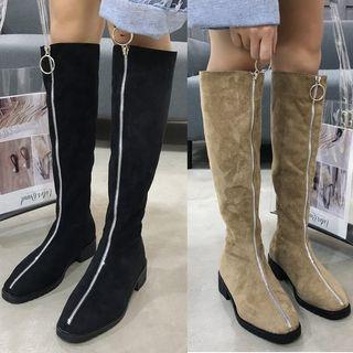 Zipped Long Boots
