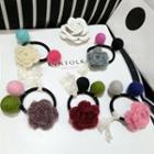 Knit Flower Hair Tie