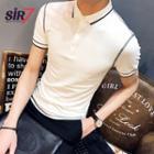 Short-sleeve Stitching Polo Shirt