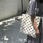 Polka Dot Canvas Shopper Bag