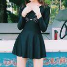 Long-sleeve Swim Dress