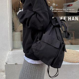 Double-strap Three-way Backpack Black - One Size