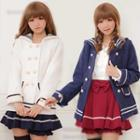 Sailor Collar Double-breasted Jacket