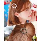 Chain Oval Hair Barrette