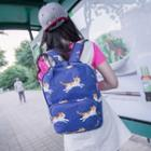 Cat Printed Canvas Backpack