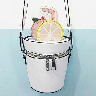 Lemon Faux-leather Bucket Bag