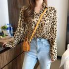 Leopard Pattern Blouse As Shown In Figure - One Size