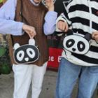 Panda Faux Leather Crossbody Bag