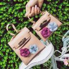 Flower-accent Chain Strap Shoulder Bag