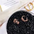 Floral Clip-on Earring Rose Gold - One Size