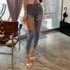 Cutaway Skinny Jeans