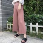 Pleated Wide Leg Pants With Belt