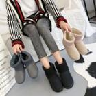 Knit Panel Snow Short Boots