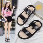 Adhesive Strap Flat Sandals