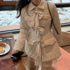 Ribbon Applique Padded Coat