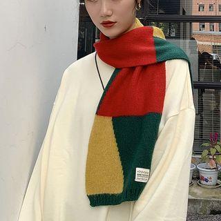 Contrast Knit Scarf