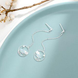 Sterling Silver Drop Earrings  - Earring
