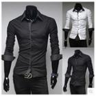 Double-collar Long-sleeve Shirt
