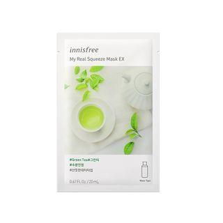 Innisfree - My Real Squeeze Mask Ex - 14 Types Green Tea