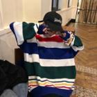 Rainbow Striped Knit Top