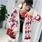 Long-sleeve Pattern Knit Cardigan
