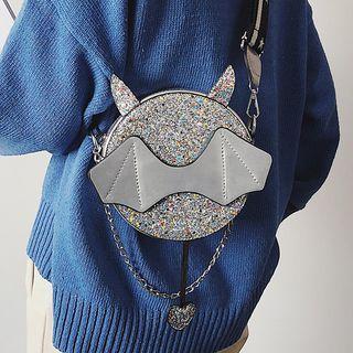 Chain Accent Round Crossbody Bag