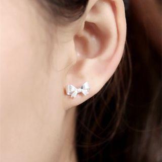 Bow Sterling Silver Earrings