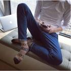 Slim-fit Embroidery Jeans