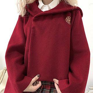 Hooded Jacket / Frog Buttoned Top
