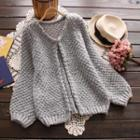 Balloon-sleeve Cardigan